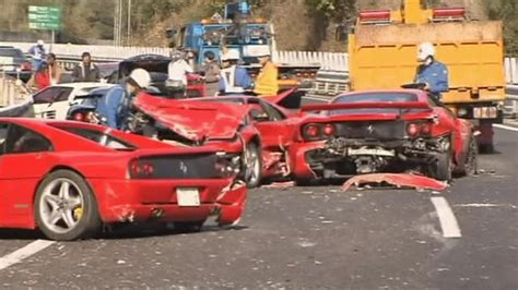 Luxury Sports Cars In Costly Japan Pile-up