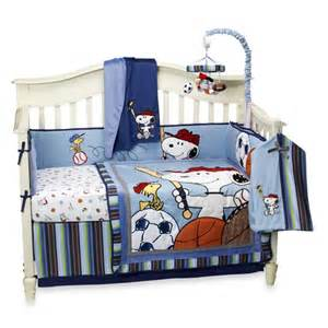 Snoopy Crib Bedding Set by Lambs Team Snoopy Bedding Boys Will Be Boys