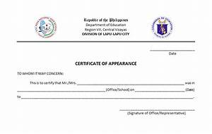certificate of appearance template 28 images askedwell With certificate of appearance template