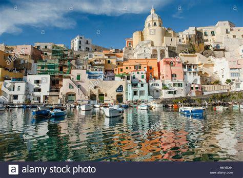 Scenic View Of Procida Island In Naples Gulf