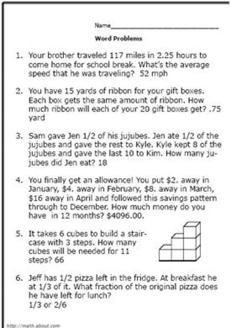 realistic math problems   graders solve real life