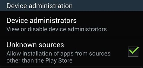how to enable quot unknown sources quot in android to install apps outside the play store 171 samsung gs4