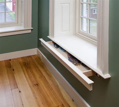 window sill secret drawer in window sill stashvault