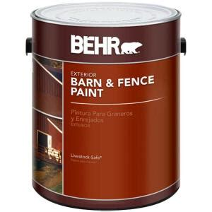 behr 1 gal exterior barn and fence paint 02501 the