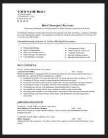resume for hotel industry sle cv for hotel industry resumes design