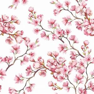 poster seamless avec des fleurs de cerisier illustration With affiche chambre bébé avec poster cerisier japonais en fleur