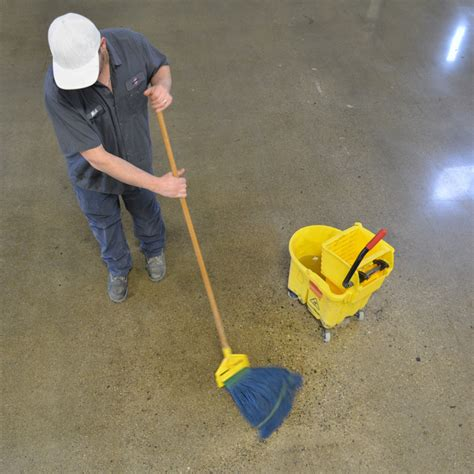 concrete floor cleaning what is the best way to clean