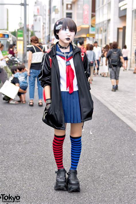 japanese school uniform demonia striped socks momoclo