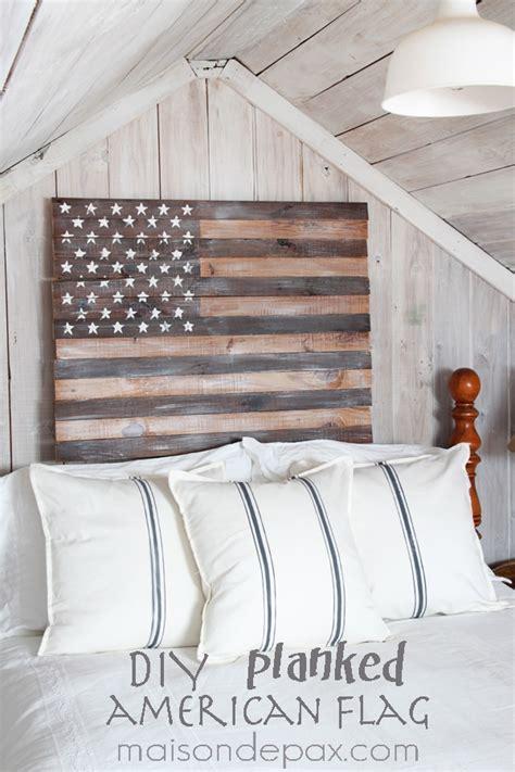 diy planked american flag maison de pax
