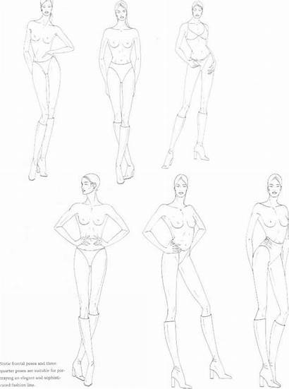 Drawing Figure Female Sketch Catwalk Sketches Poses