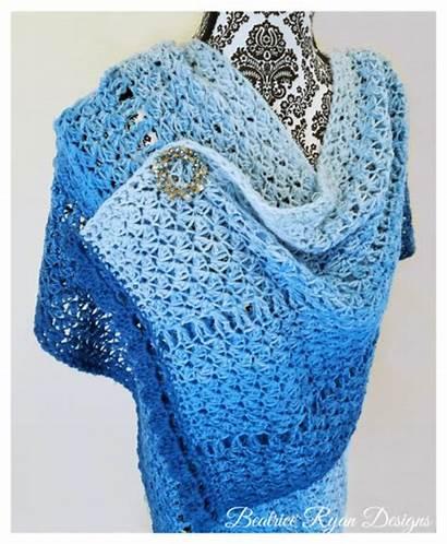 Crochet Pattern Walk Winter Shawl Prayer Beatriceryandesigns
