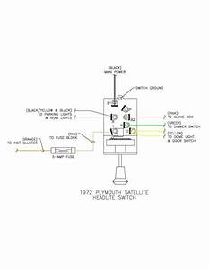 Ford Headlight Switch Wiring Diagram 1972