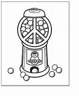 Coloring Peace Printable Gumball Machine Gum Sheet Bubble Tags Signs sketch template
