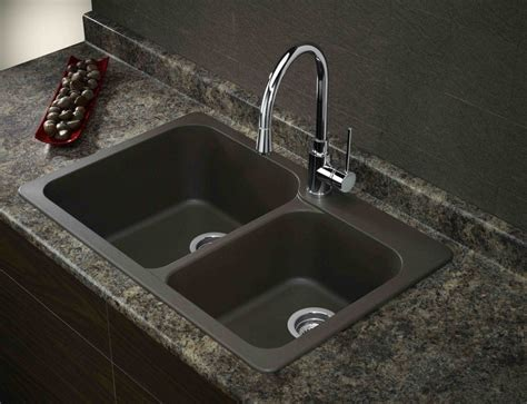 Composite Kitchen Sinks by Blank Sink With Stainless Steel Faucet Search
