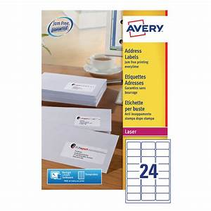 Avery address laser labels 24 labels per sheet 100 sheets for Avery cable label sheets