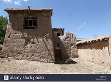 mud house in afghanistan Stock Photo, Royalty Free Image