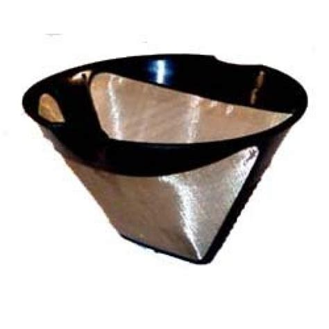 This reusable beauty allows coffee to develop its full flavour without influencing the taste during the filtration process. THE ORIGINAL GOLDTONE BRAND Reusable Cone-style #4 10-12 ...