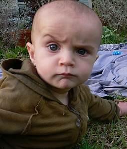 A very skeptical baby. (x-post r/redditgetsdrawn ...  Skeptical