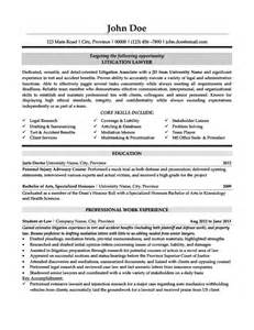 litigation lawyer resume template premium resume sles