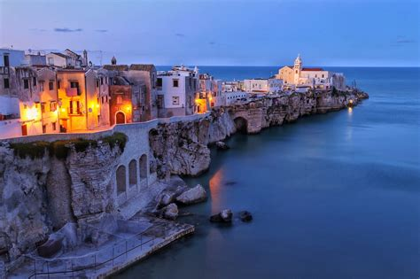 View of old town Vieste, Italy