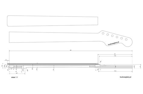The Pdf Template Fender Stratocaster Standerd Headstock by Fender Neck Template Choice Image Template Design Ideas