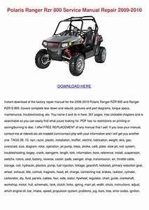 Polaris Ranger Rzr 800 Service Manual Repair By Carlee