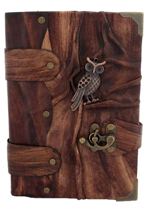 cuero journals owl leather journal with clasp bookheart pinterest