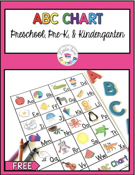 preschool kindergarten abc flashcards printable
