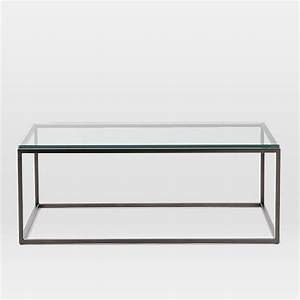 box frame coffee table glass antique bronze west elm With antique bronze glass coffee table