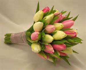 tulip bouquet wedding pink tulip bridal posy bouquet wedding bouquets silk artificial wedding flowers