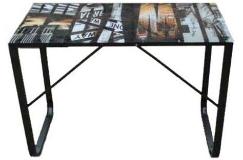 bureau plateau verre 6 mm decor manhatthan bureau pas cher