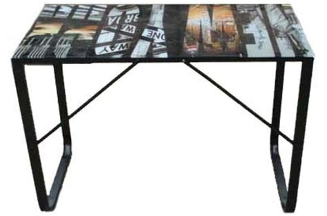bureau en verre pas cher bureau plateau verre 6 mm decor manhatthan bureau pas cher