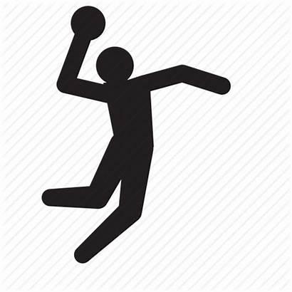 Handball Sports Icon Athlete Olympics Ball Hand