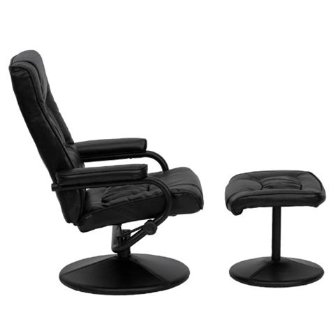 comfortable leather chair and ottoman flash furniture bt 7862 bk gg contemporary black leather