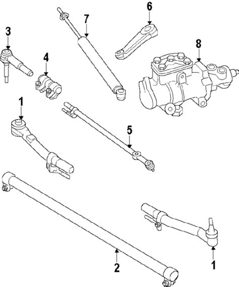 Ford E 250 Part Diagram by Parts 174 Ford Drag Link F250 F350 Duty Power