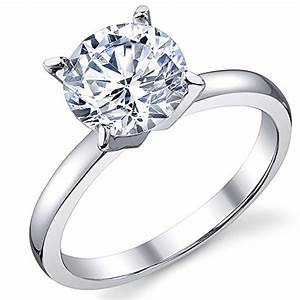 2 carat round brilliant cubic zirconia cz sterling silver With wedding rings cubic zirconia