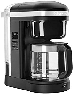 Braun brewsense drip glass coffeemaker engineered in germany, it's a coffee maker that has a smart design and can be programmed to make the best cup of coffee in the best moment. KitchenAid KCM1208BM Spiral Showerhead 12 Cup Drip Coffee Maker, Black Matte | Coffee maker ...