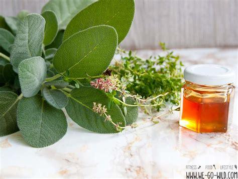 thymiantee selber machen hustensaft selber machen mit thymian salbei und honig