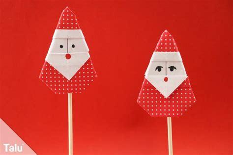 origami weihnachtsmann falten anleitung fuer einen nikolaus aus papier talude
