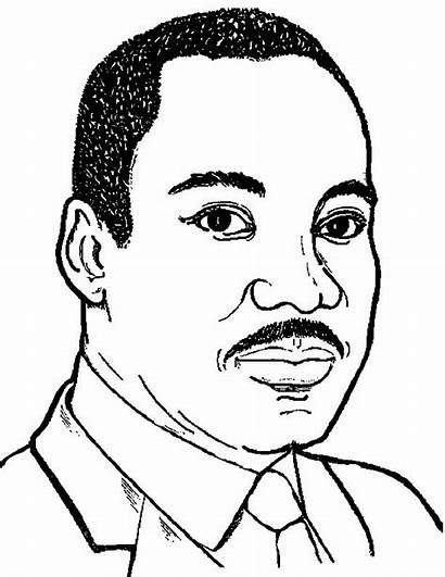 Coloring Luther Martin King Jr Pages Clip