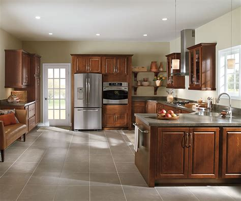 Prelude Cabinets Specifications by At Lowes Woodhall Cherry Henna