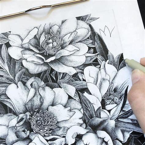 flowers  ase balko atasebalko pointillism