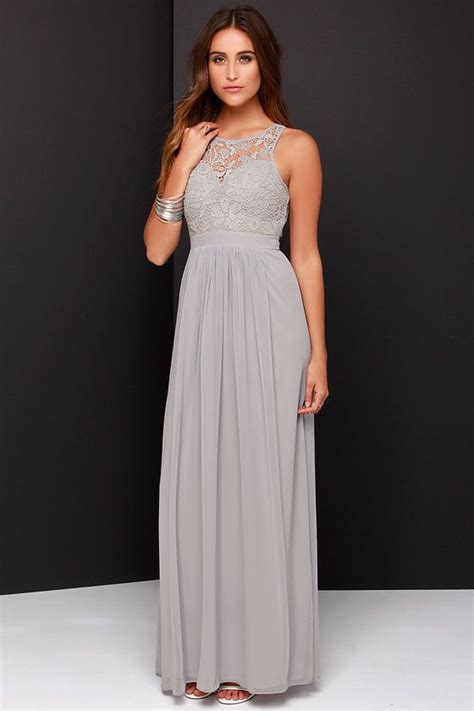 light gray bridesmaid dress so far gown grey lace maxi dressat lulus fancy you
