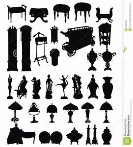 Antique Objects Silhouettes Stock Vector - Image: 13207606