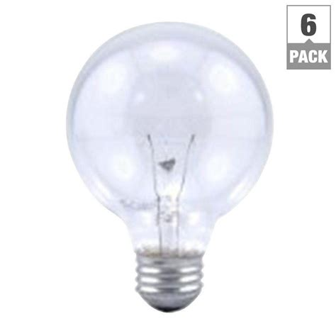 sylvania 40 watt incandescent g25 clear globe light bulb