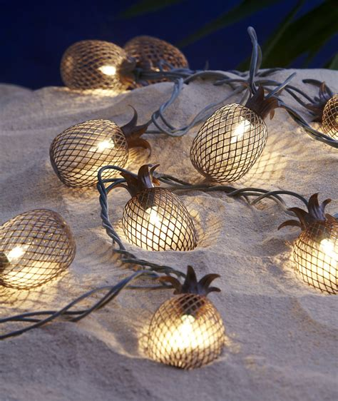 Pineapple Lights by Garden Oasis 10ct Pineapple Light String Shop Your Way