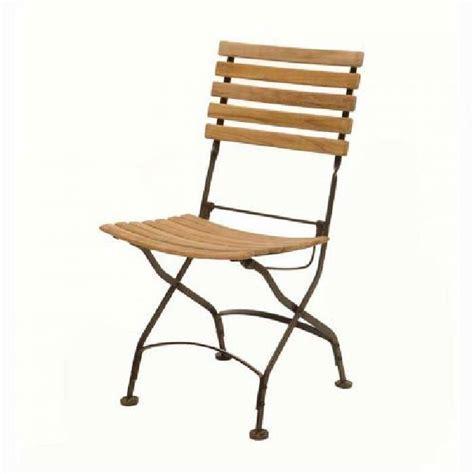 chaises de jardin pliantes lot de 2 chaises pliantes teck fer forgé medicis achat