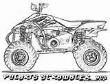 Drag Coloring Pages Wheeler Drawing Four Race Racing Cars Cool Cartoon Polaris Printable Drawings Wheelers Paw Patrol Getdrawings Disney Motocross sketch template