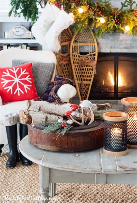 cozy ski lodge inspired christmas   lilypad cottage