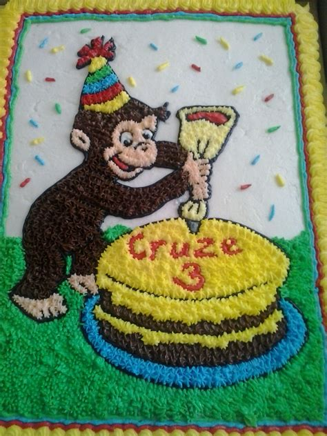 curious george birthday cake cakecentralcom